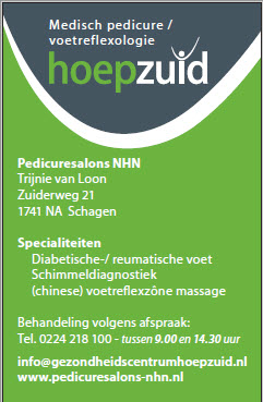 Pedicuresalons Noord-Holland Noord Schagen